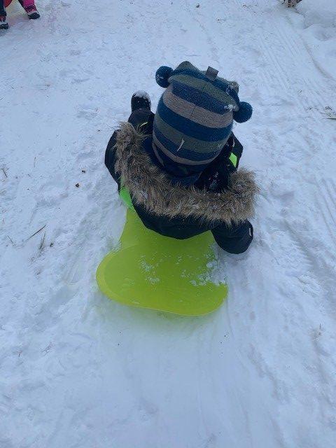 Beskyttet: Malmen koser seg i snøen :)